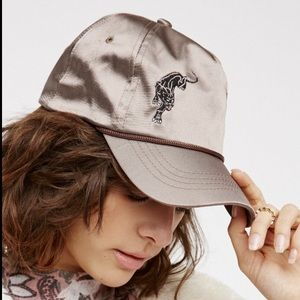 Free People Satin Panther Baseball Adjustable Hat